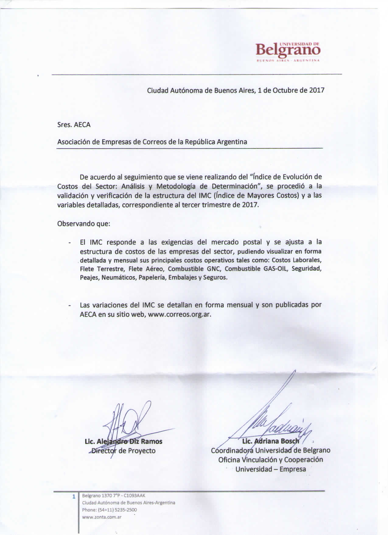 certificacion imc495